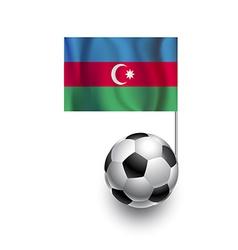 Soccer Balls or Footballs with flag of Azerbaijan vector image vector image