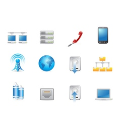 universal connected icon vector image vector image