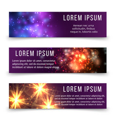 abstract banners template with space objects vector image vector image