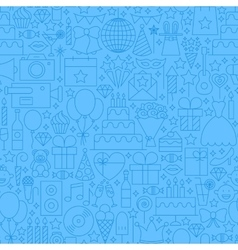 Birthday Blue Line Seamless Pattern vector image vector image