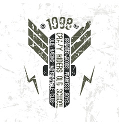 Emblem motorcycle club in retro style vector image
