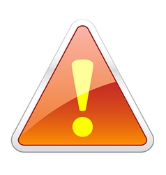 Hazard Warning Attention Icon vector image