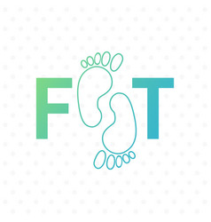 logo of center of healthy feet human footprint vector image