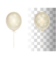 realistic white shine transparent balloon vector image vector image