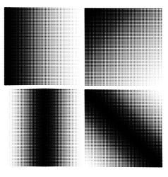 Set of 4 halftones vector image vector image