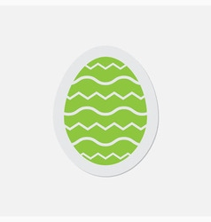 simple green icon - Easter egg vector image