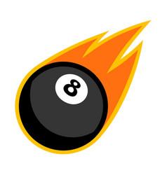 Sport ball fire pool vector