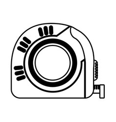 tape measure tool icon vector image
