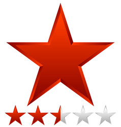 3d beveled star with rating vector image