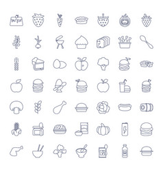 49 nutrition icons vector