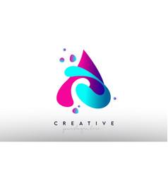 A letter design logo rainbow bubble gum letter vector