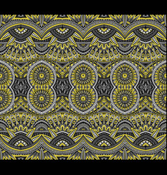 Abstract ethnic vintage yellow and grey background vector