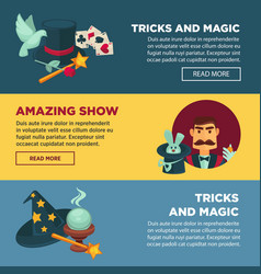 amazing show with tricks and magic internet vector image