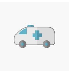 Ambulance Flat Icon vector