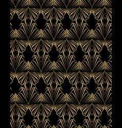 art deco template golden-black seamless pattern vector image