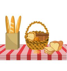 breads basket design vector image