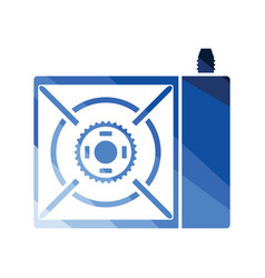camping gas burner stove icon vector image