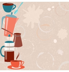 Card with coffee related elements vector image vector image
