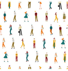cartoon characters men and women holding vector image