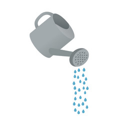 cartoon watering can vector image