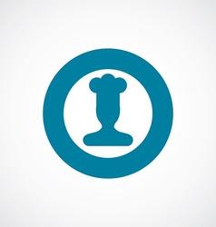Chef icon bold blue circle border vector