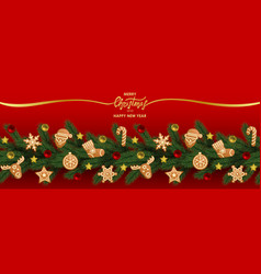 christmas and new year holiday web banner vector image