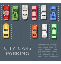City parking lot vector