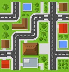 city top view town map seamless pattern vector image