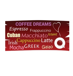 coffee dreams poster background vector image