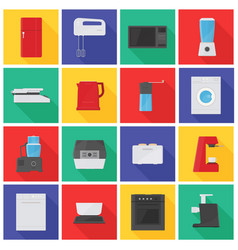 collection of icons or pictograms with kitchen vector image