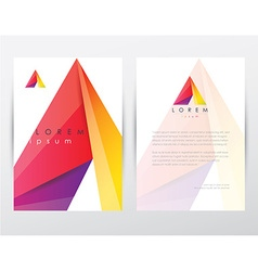Corporate stationary branding template vector