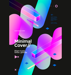 creative design poster with vibrant gradient shape vector image