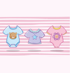 cute baby clothing vector image