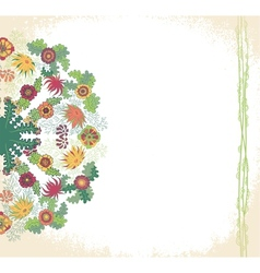 Decorative floral ornament invitation card vector image
