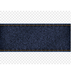 denim label template isolated on transparent vector image