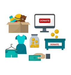 donate help symbols vector image