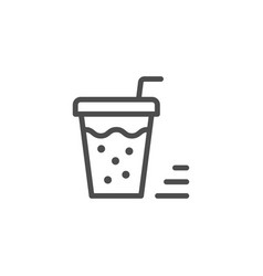 drink line icon vector image