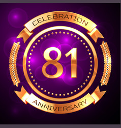 Eighty one years anniversary celebration with vector