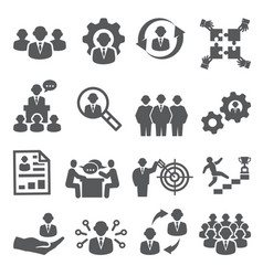 employee icons business and management icons vector image