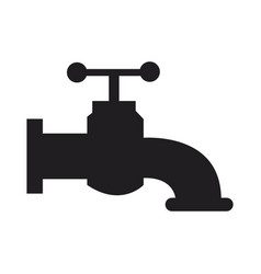 faucet handle valve hygiene water symbol vector image