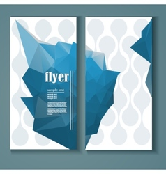 flyer with a polygonal pattern vector image
