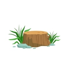 Freshly Cyt Stump Natural Landscape Design Element vector