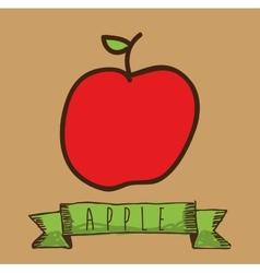 fruit cute design vector image