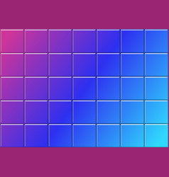 geometric background with colorful 3d tiles vector image