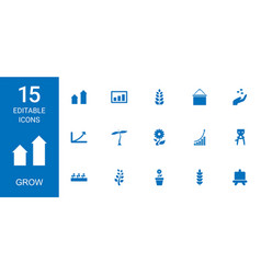 grow icons vector image