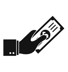 hand give money icon simple style vector image