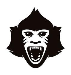 head of monkey vector image