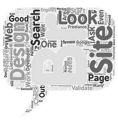How to select a good web designer developer text vector