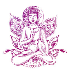 illuastration with buddha vector image