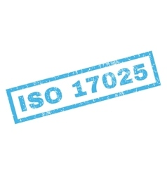 Iso 17025 rubber stamp vector